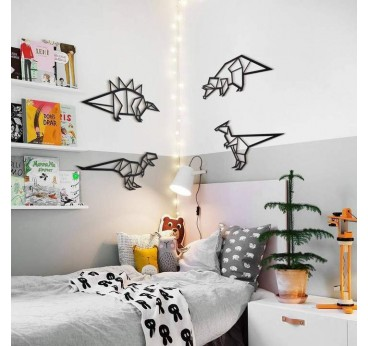 Dinosaur metal wall decoration for an unique interior in a modern way
