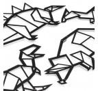 Détails de notre sculpture en métal dinosaure