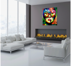 Love Glasses pop art canvas