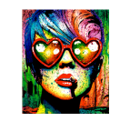 Tableau Pop Art Love Glasses