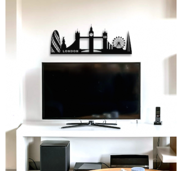 London decorative skyline for a design wall decoration in your interior
