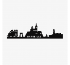 Marseille skyline wall decoration in metal and with a black color