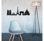 Skyline deco murale de la ville de Paris pour un intérieur contemporain et moderne