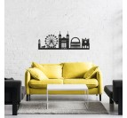 Skyline metal wall decoration from Lyon for a modern and contemporary interior