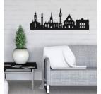 Skyline décoration murale design de la ville de la Lille dans un intérieur tendance