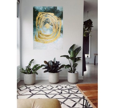 Abstract wall oil painting for an unique interior decoration