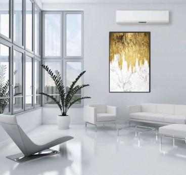 Abstract gold oil painting decoration for an unique interior with a design touch