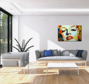 Tableau Peinture Marilyn Monroe Design Color