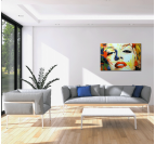 Marilyn Monroe Design Color Painting