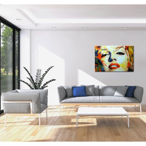 Tableau peinture marilyn monroe design color - Tableau colore design ...