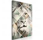Tableau de lion dans une version géométrique grise pour créer un intérieur tendance