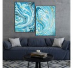 Marble design oil painting  - 1