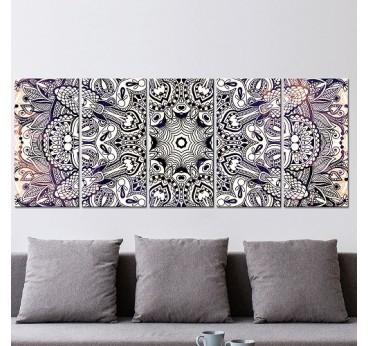 Tableau déco de mandala en noir et blanc pour hypnotiser votre décoration murale design