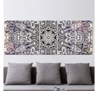 Black and white mandala decorative canvas to hypnotize your design wall decoration