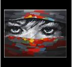 Beautiful Eyes Tableau Peinture Abstrait
