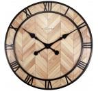 Horloge murale bois et métal avec de grandes aiguilles pour créer un intérieur tendance