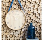 Decorative wood wall clock for a trendy and designer interior