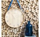 Horloge murale déco bois pour un intérieur tendance et design