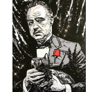 Corleone artist street art canvas by our artist Gab for your interior decoration