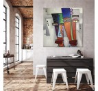 Pop art painting on canvas from our artist in a modern decoration