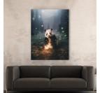 Artist print canvas with a magic panda to create a modern interior