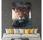 Tableau moderne de jaguar dans un style sauvage pour votre intérieur
