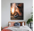 Fox design wall art for a wild wall decoration with these orange colors
