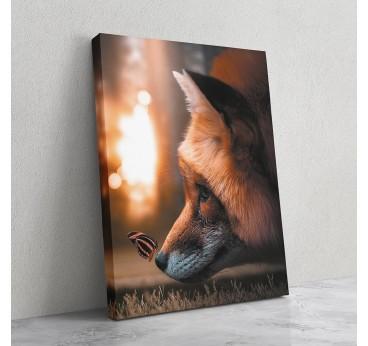 Tableau animal de renard pour un moment plein d'émotion dans votre décoration murale