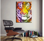 Bubble Tiger Trendy Art Print