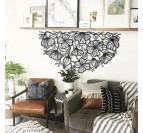 Art mural métallique de fleurs pour un design contemporain dans votre intérieur