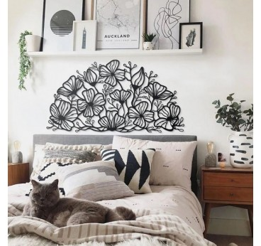 Décoration murale art métallique de fleurs à disposer dans votre intérieur pour une touche industrielle