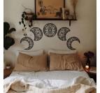 Sculpture art métallique de la lune avec un style boho pour votre décoration intérieur
