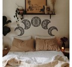 Metal art sculpture of the moon with a boho style for your interior decoration