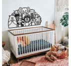 Metal frame in wall art for your children with all the animals of the jungle for their little room