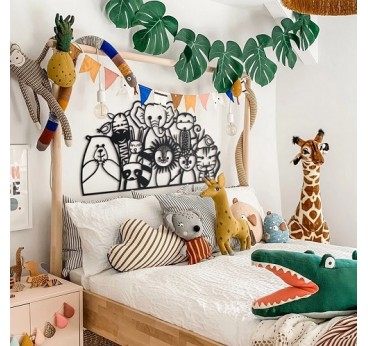 Metallic art decoration for children with animals for your little one's room