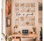 Décoration murale art métallique de citation life is good pour votre intérieur
