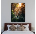 Animal wall art with this leopard in nature for a trendy and natural interior design