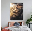 Décoration murale animal avec ce tableau de lion design pour votre intérieur