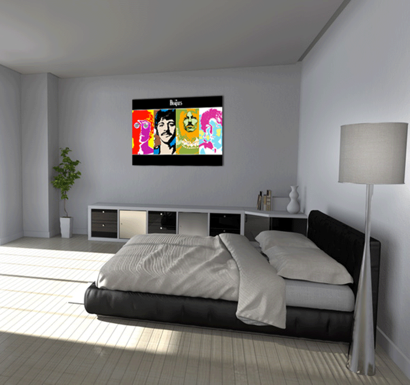 the beatles pop art canvas artwall and co. Black Bedroom Furniture Sets. Home Design Ideas