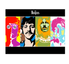 The Beatles Tableau Pop Art