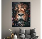 Floral lion decoration with several colors for your trendy wall decoration