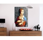 Wall decoration with our painting by number portrait
