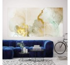 Contemporary abstract canvas with a gradient of yellow for your interior decoration