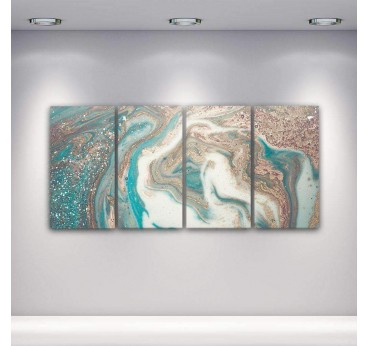 Abstract wall art canvas in several panels for a design wall decoration in your room