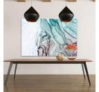 Tableau abstrait au couleur apatite pour un style contemporain dans votre déco murale