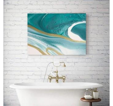 Tableau abstrait dans un style d'océan pour une décoration murale contemporaine