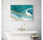Abstract wall art in an ocean style for a contemporary wall decoration