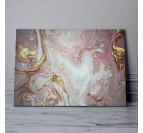 Abstract pink marble wall art with white and gold touches for an original wall decoration