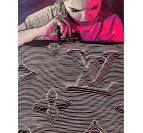 Tableau moderne addiction de l'artiste Gab en édition limitée avec une femme droguée par les marques de luxe