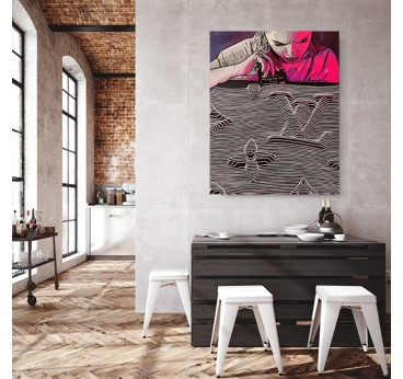 Contemporary canvas print of the Louis Vuitton brand by our artist Gab for an original wall decoration